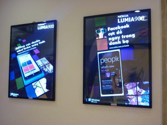 Biển quảng cáo hộp đèn siêu mỏng 2 lớp mica phát sáng