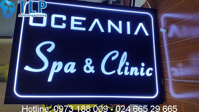 bien vay led tiem spa