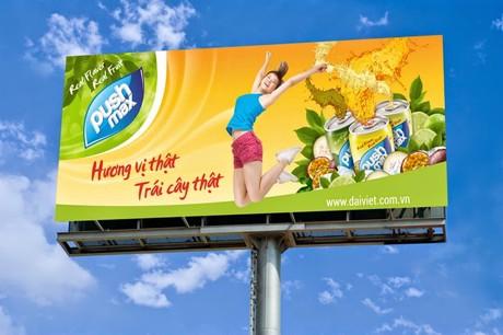 Tự thiết kế biển quảng cáo ngoài trời với thông điệp dễ hiểu