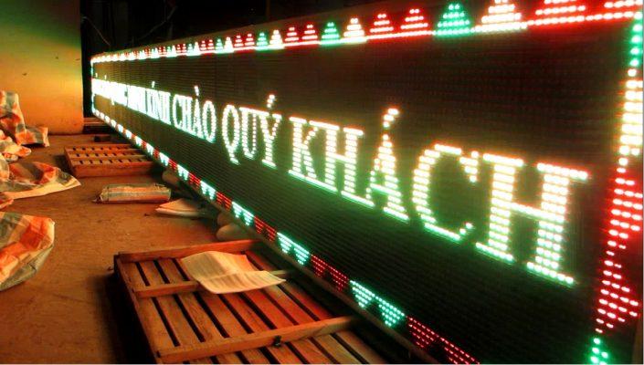 Biển quảng cáo led full màu sử dụng đèn chất lượng